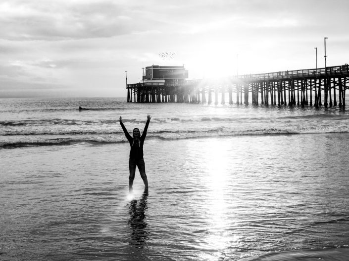 Füße im Meer, Kopf in der Sonne